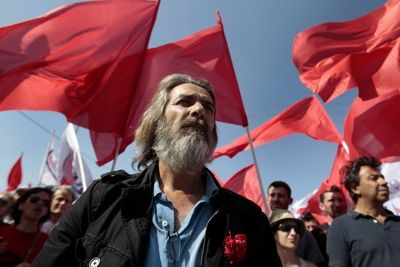 Greek steel workers strike
